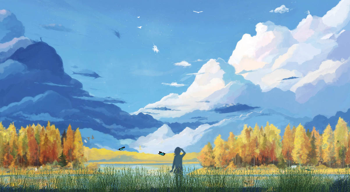 Butterfly Wallpaper For Desktop With Animation Manga Landscapes Animated Wallpaper Desktopanimated Com