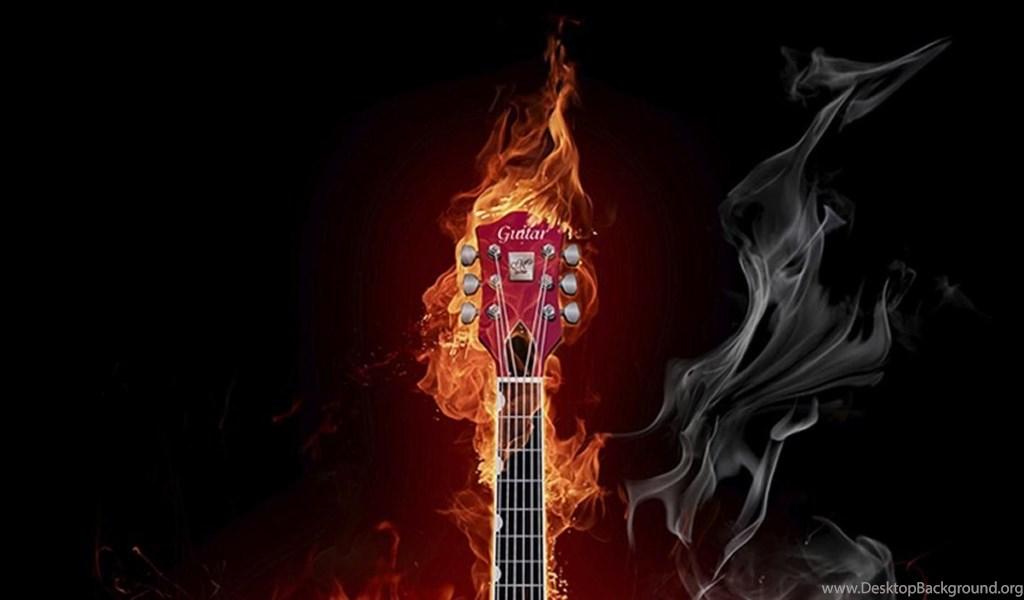 Music Flame Guitar Hd Wallpapers ( Desktop Background