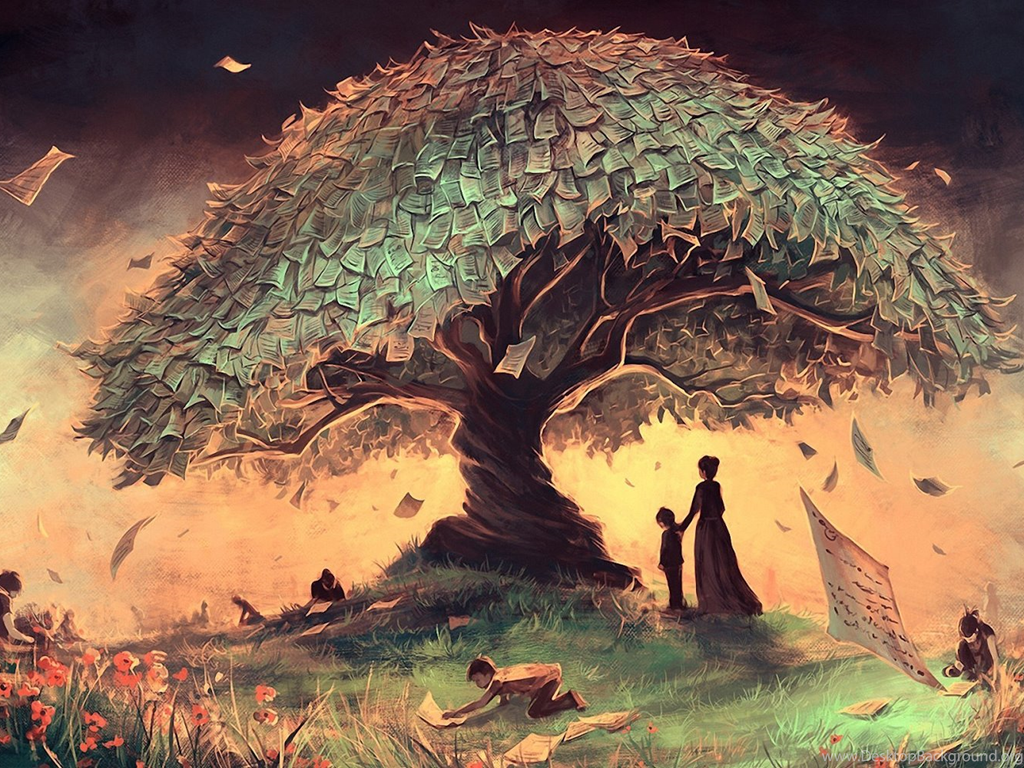 Magic Wallpaper Iphone X Fantasy Money Tree Landscape Children Art Hd Wallpapers