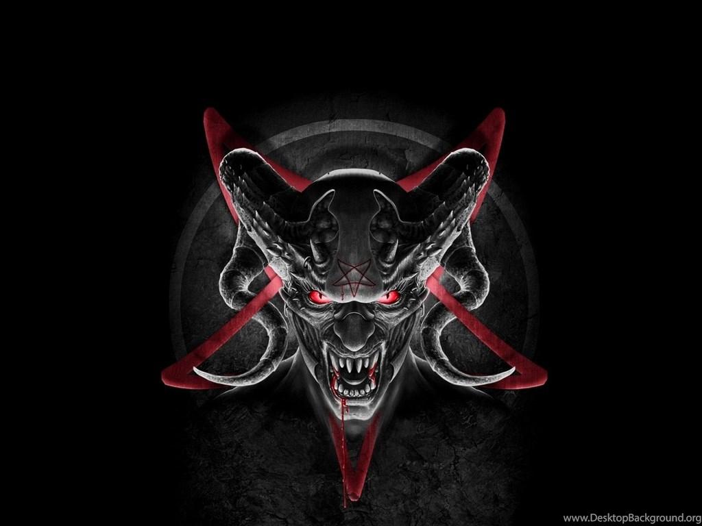 Satanic Iphone Wallpaper Wallpapers Demon Devil Horns Satan Pentagram Desktop
