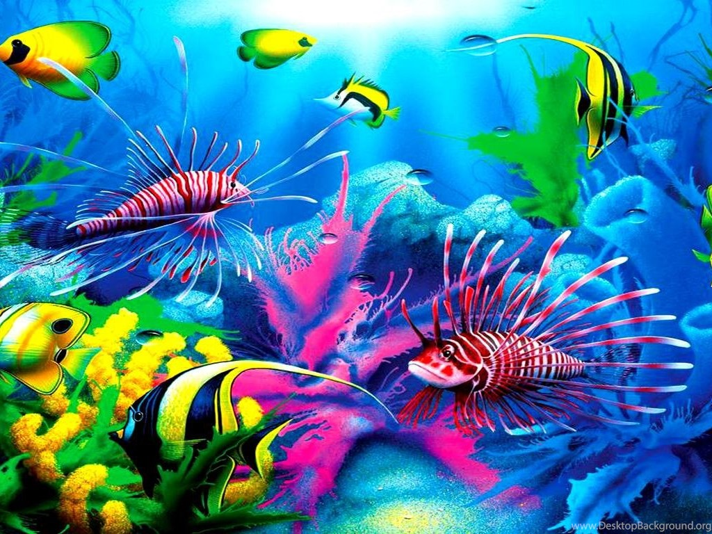 How To Download Live Wallpapers For Iphone Fish Tropical Lionfish Ocen Fish Plants Coral Free
