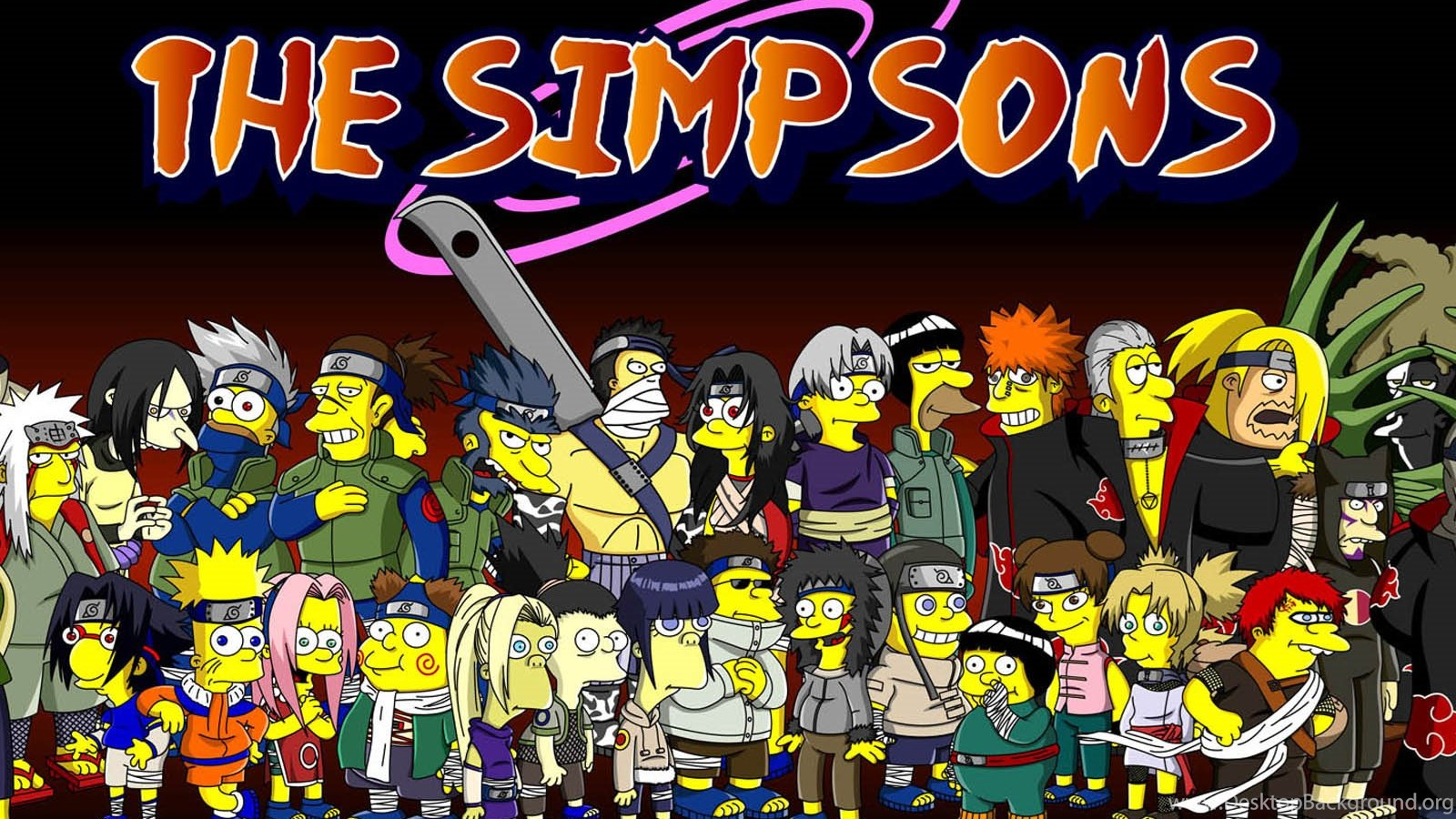 Wallpaper For Iphone 4s Black Simpsons Naruto Wallpapers Wallpapers Free Simpsons Naruto