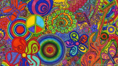 Abstract Wallpaper: Hippie Flower Free Wallpapers For HD Wallpapers ... Desktop Background