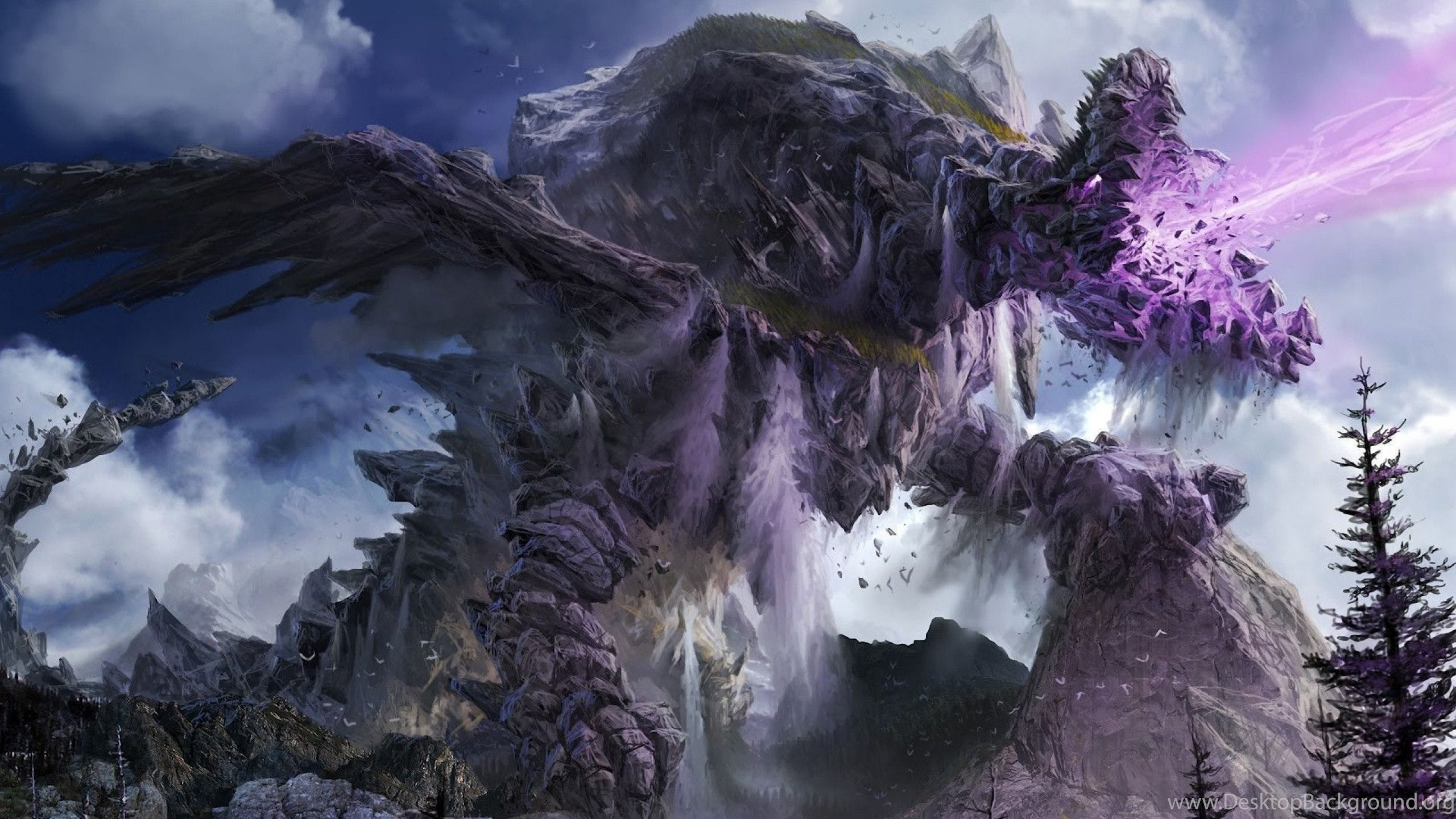 3d Live Waterfall Wallpapers Dragon Fantasy Artwork Art Dragons Wallpapers Desktop