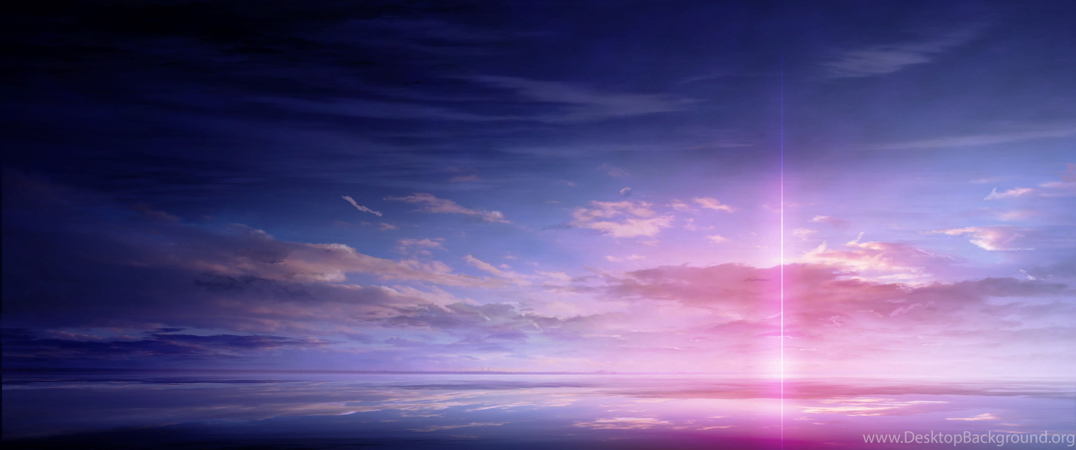 Hp Wallpaper Hd 1920x1080 Anime Scan Landscape Sky Cloud Beautiful Light Color