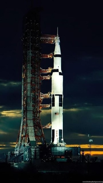 Download Wallpapers The Apollo 17 Saturn V After Sunset Two Weeks ... Desktop Background