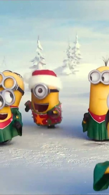 Make Your Own Iphone 5 Wallpaper Minions Wishing Merry Christmas With Your Logo Make Your