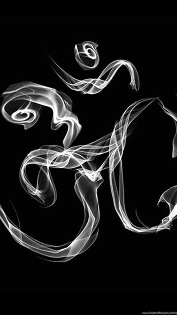 Black Om Wallpapers, Black & White Om Symbol Download Desktop Background