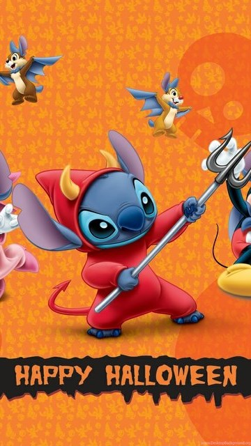 Orchid Iphone Wallpaper Alice Bambi Disney Lilo And Stitch Friends Halloween