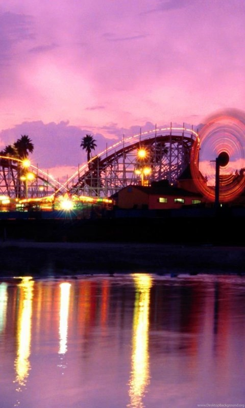 Wallpaper Iphone X Hd Boardwalk California Beach Cruz Summer Twilight Santa