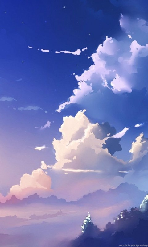 Girl Drawing Wallpaper For Iphone Anime Sky Scenery Cloud Scenery 05 Desktop Background