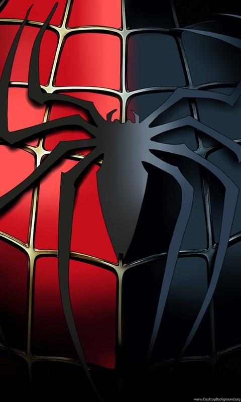 Free Wallpaper For Iphone 5s Spiderman Black Red Logo Desktop Download Hd Wallpapers