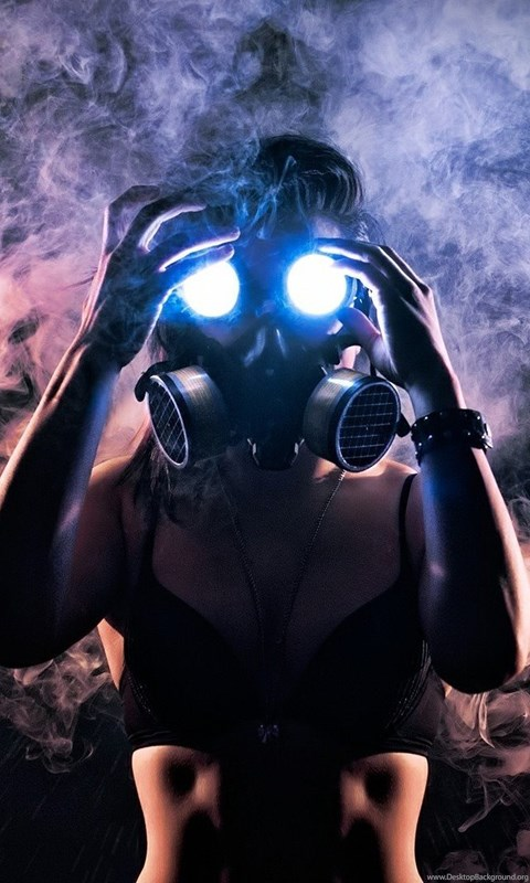 Your Name Wallpaper Iphone X 15291 Woman In Gas Mask 1920x1080 Photography Wallpapers