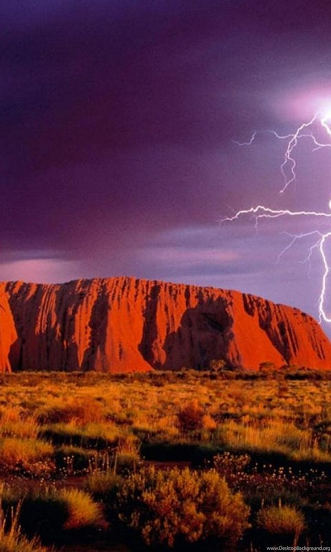 540x960 Resolution Hd Wallpapers Lightning At Ayers Rock Uluru Australia 1212365 Wallpapers
