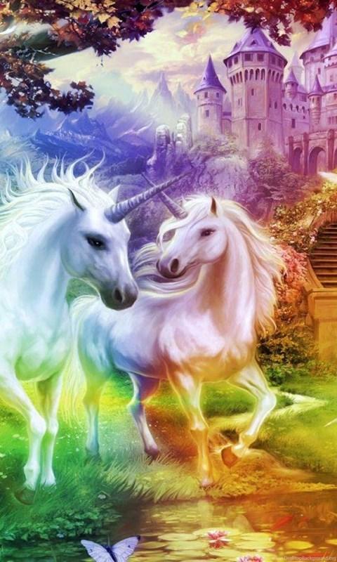 Iphone 4s Original Wallpaper Rainbow Unicorn Kingdom 1216595 Wallpapers Desktop
