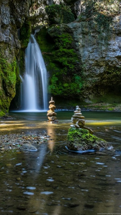 Zen Garden Waterfalls HD Wallpapers. 4K Wallpapers Desktop Background
