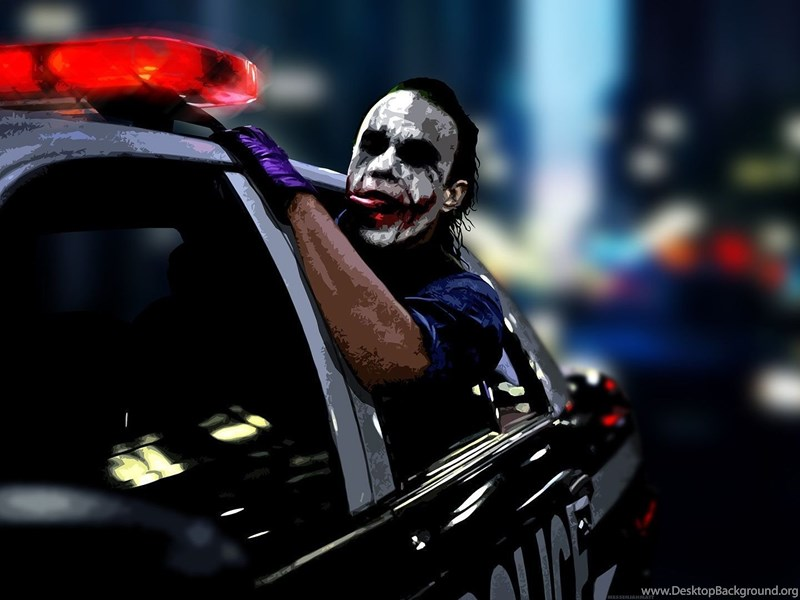 3d Wallpaper Pinterest 1920x1080 The Joker Police Car Wallpapers Desktop Background