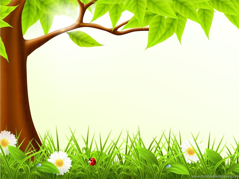 Cute Forest Spring Backgrounds Design, Green, Nature, Yellow