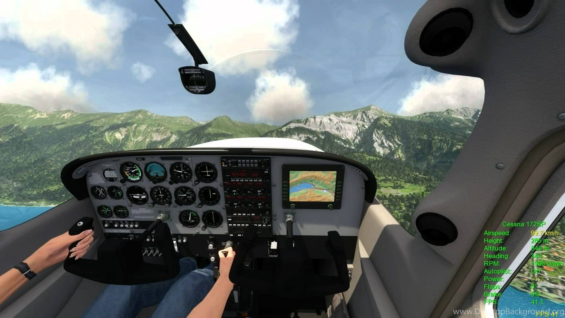 Cockpit Hd Wallpaper Aerofly Fs Simulator First Cessna 172 Sp Tests Youtube