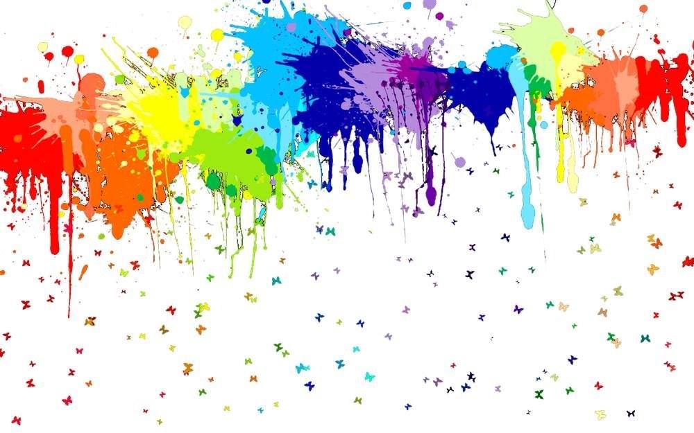 Wallpapers Paint Splash Rainbow Splatters Png Click To
