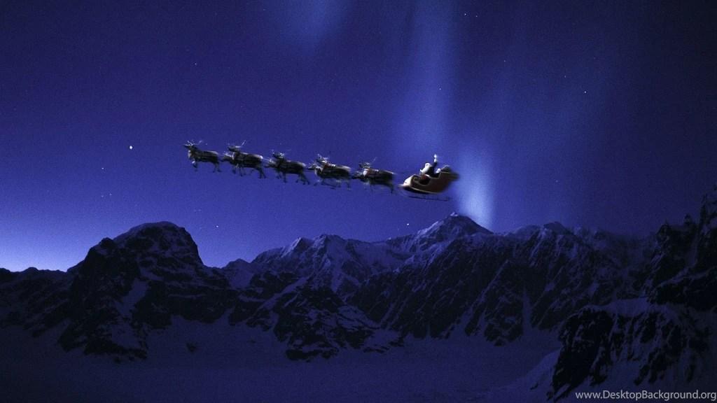 Lavender Color Wallpaper Hd Santa S Sleigh In The Night Sky Merry Christmas Santa