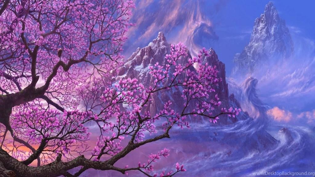 Iphone 4s Original Wallpaper Hd Fantasy Flowers Sakura Wallpapers Hd Download For Desktop