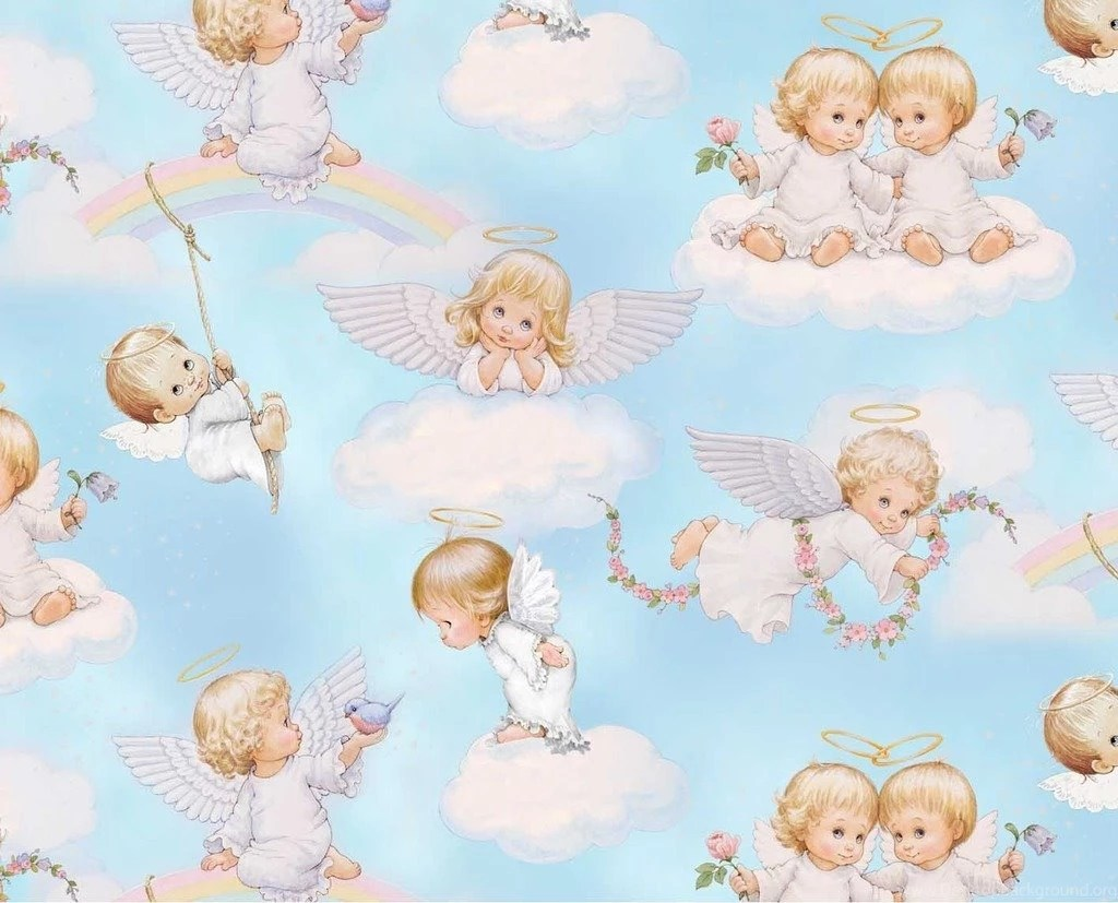 Very Cute Babies Desktop Wallpapers Justpict Com Baby Angels In Heaven Wallpapers Desktop