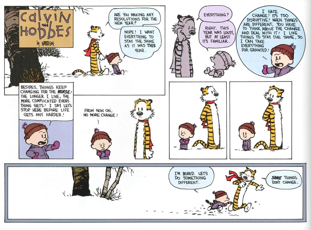 Firefly Iphone Wallpaper Quote Calvin And Hobbes Comics New Year Wallpapers Desktop