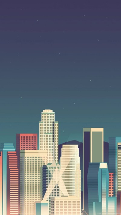 8 Bit Cityscape iPhone 5 Wallpapers Desktop Background