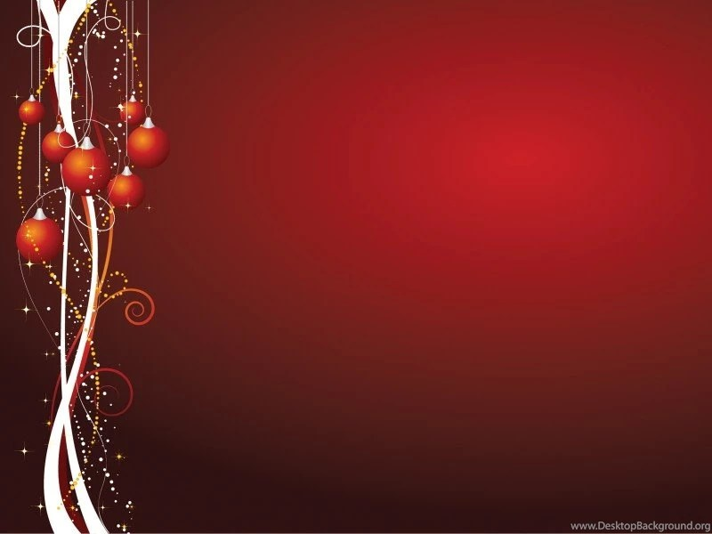 Xmas Theme Powerpoint Templates Christmas, Red Free PPT Desktop