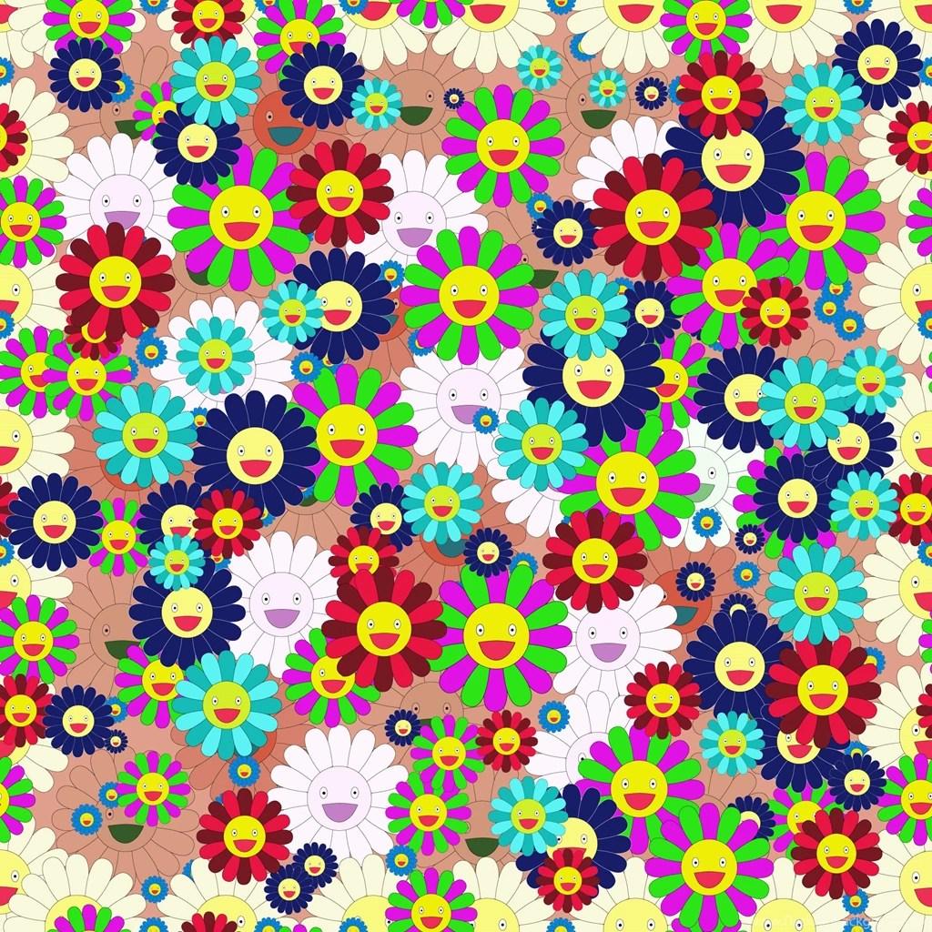 Iphone 6 Orange Flower Wallpaper Takashi Murakami Wallpaper Desktop 2 33859 Hd Wallpapers