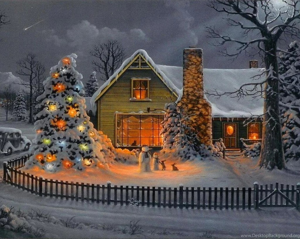 3d Wallpaper For Iphone 3gs Christmas House Wallpapers Desktop Background