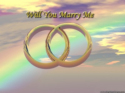 Desktop Wallpapers » 3D Backgrounds » Will You Marry Me ...