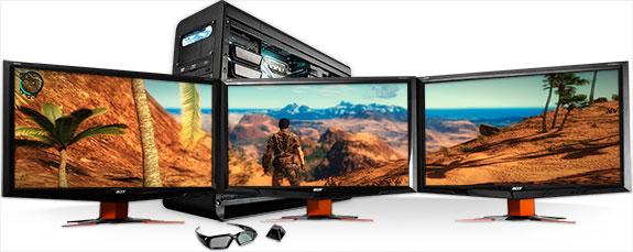 Multi Monitor Gaming Display With Triple Screens - multi screen display