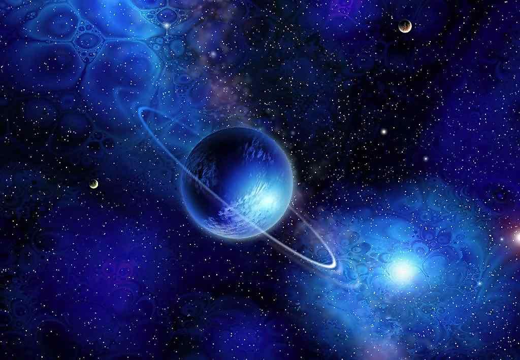 2560x1440 Wallpaper Hd 唯美星球与星云图片壁纸 桌面天下(desktx Com)