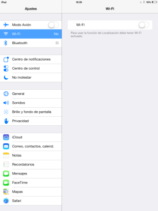 Desconectar Wifi iOS 7