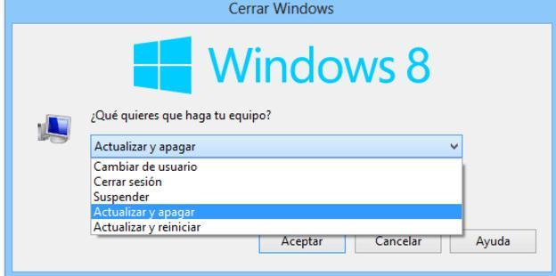 Apagar PC Windows 8