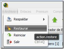 restaurar jDownloader