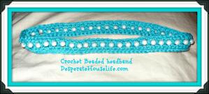 Crochet Beaded Headband 2.0 {free crochet pattern}