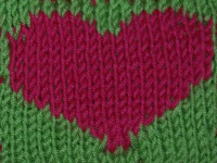 Heart Coaster {free knitting pattern}