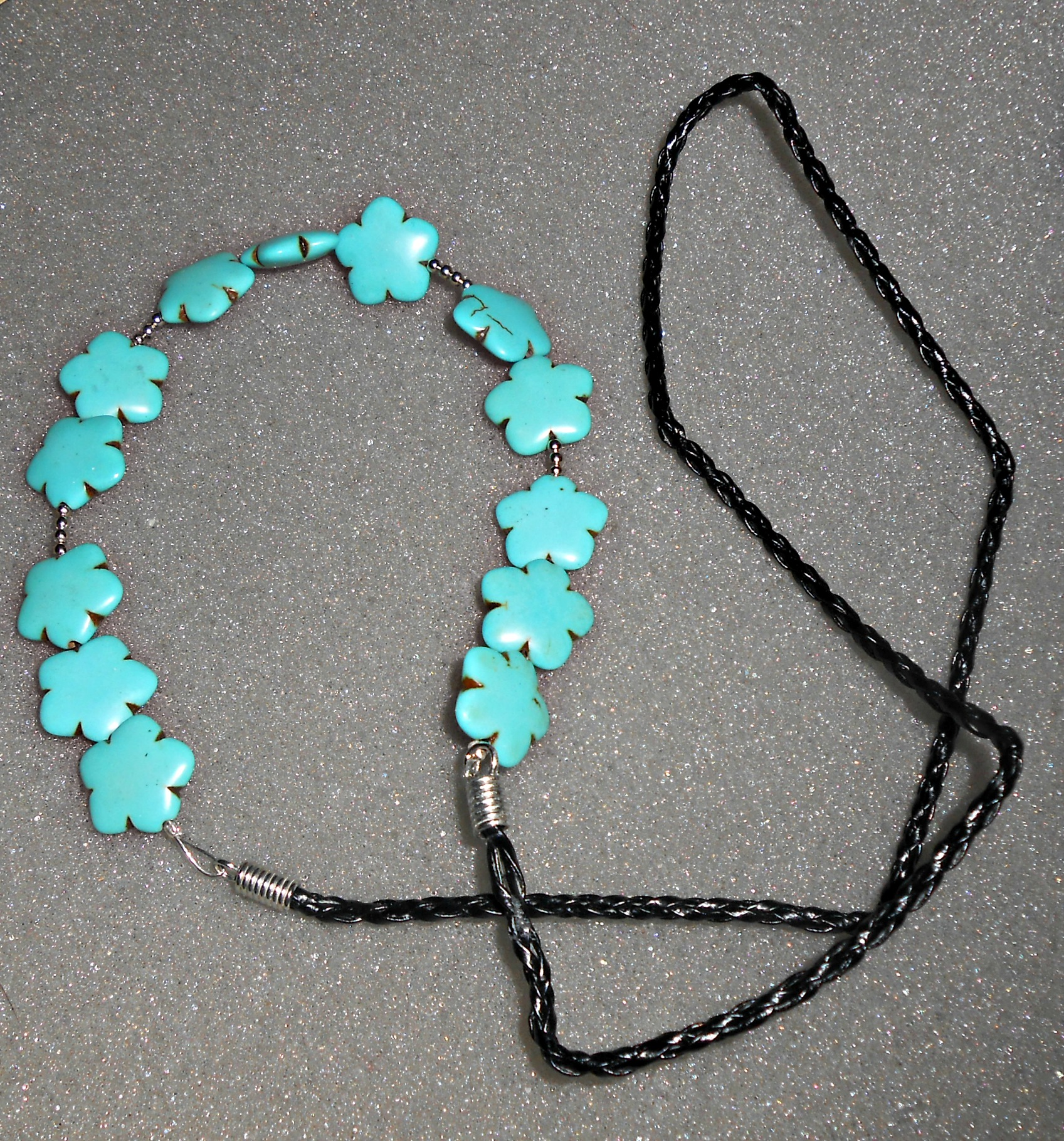 Diy turquoise statement necklace tutorial 6