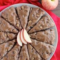 Brown Sugar Glazed Apple Scones