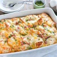 Ham Egg and Cheese Breakfast Casserole