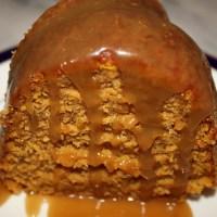 Pumpkin Bundt Cake with Caramel Sauce