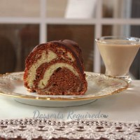 Irish Cream Chocolate Swirl Bundt Cake