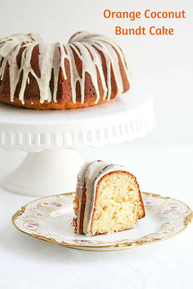 Orange Coconut Bundt Cake #SundaySupper - Desserts Required