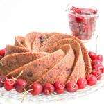 Chocolate Cherry Bundt Cake with Cherry Sauce