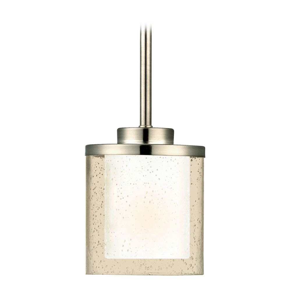 Special Rods Product Image Seeded Glass Light Satin Nickel Dolan Designs Mini Pendant Lights Seeded Glass Mini Pendant Lights houzz-02 Mini Pendant Lights