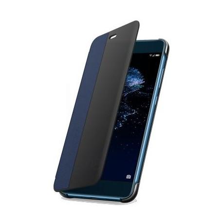 Etui Huawei P10 lite folio bleu et noir d'origine Huawei