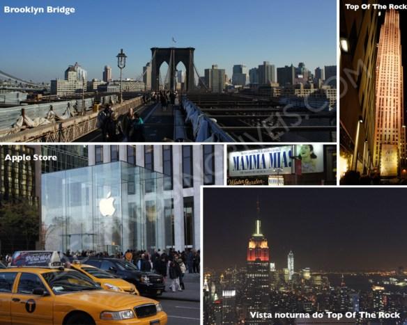 Brooklyn Bridge, Top of The Rock, Apple Store NY